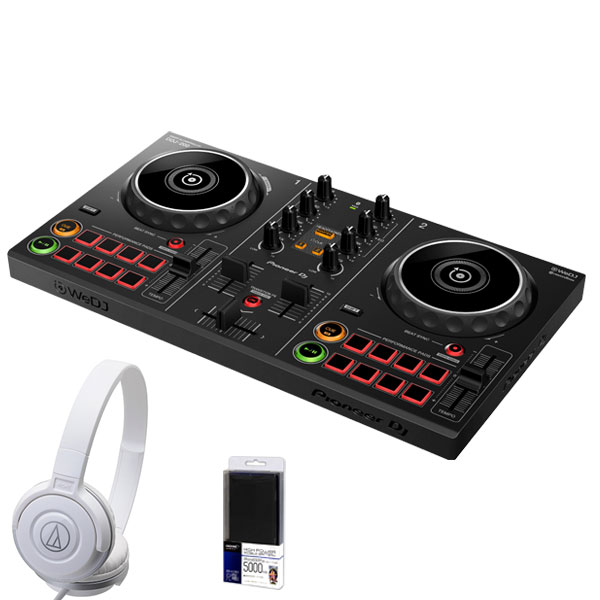 パニオニア ディージェイ ディージェー Pioneer DJ DDJ-200 + ATH-S100WHヘッドホン DJ初心者セット【今ならモバイルバッテリープレゼント!】