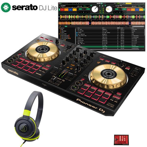 Pioneer DJ DDJ-SB3-N +ATH-S100BPK 初心者ヘッドホンセット【Serato DJ Lite対応DJコントローラー台数限定モデル】【あす楽対応】【土・日・祝 発送対応】
