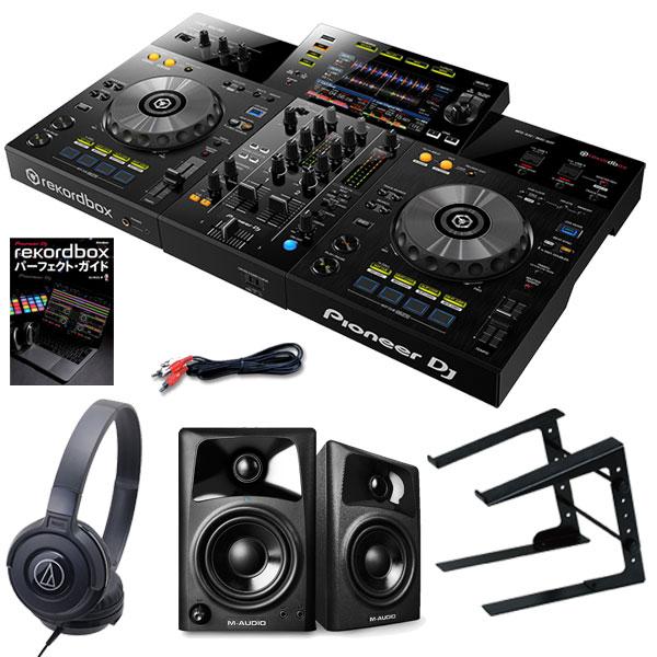 Pioneer DJ XDJ-RR + AV42スピーカー + LT100B PCスタンド + ATH-S100BKヘッドホンSET