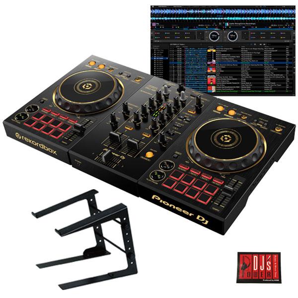 パニオニアDJ DJコントローラー ブラックゴールド Pioneer DJ 即納送料無料! 春の新作 DDJ-400-N + ikbp1 限定ゴールドモデル PCスタンドセット djay接続ガイド付属 DJ初心者をサポートする教則動画プレゼント dj対応 DJソフトrekordbox