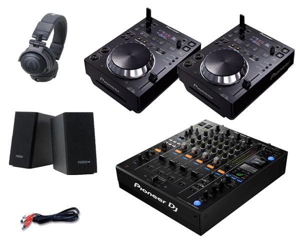Pioneer DJ CDJ-350 + DJM-900NXS2 セット(スピーカー & ヘッドホン付)