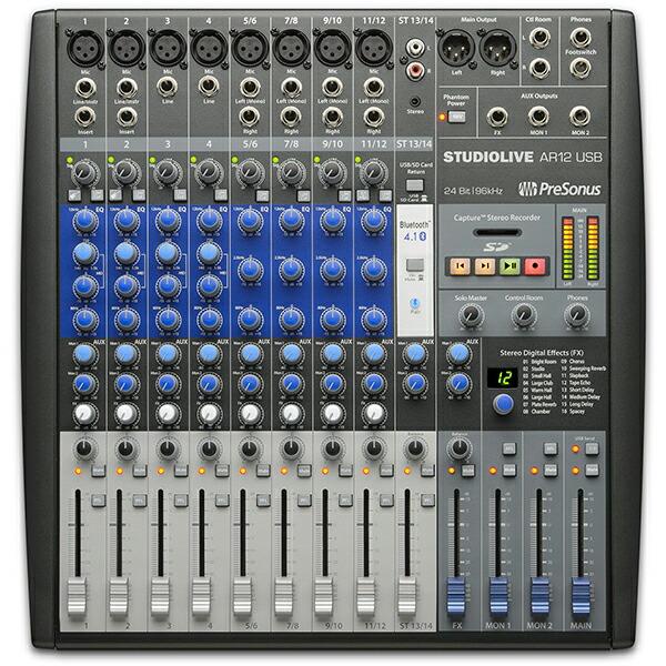 PreSonus StudioLive AR12【Studio Magicプラグイン・スイート無償提供】【数量限定!専用キャリングバッグプレゼント中!】