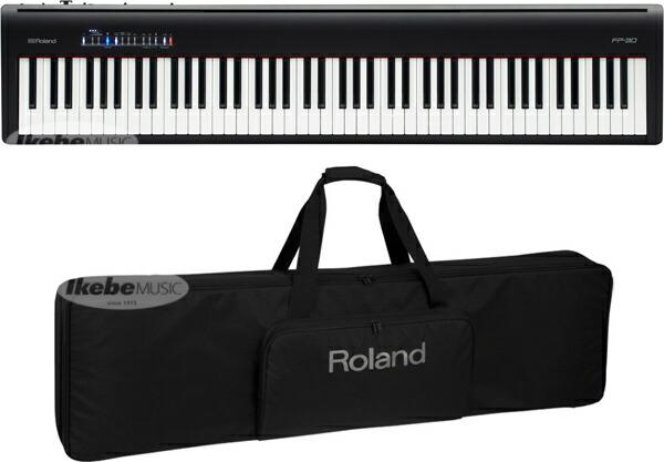 Roland FP-30-BK + CB-76RLセット【純正ソフトケースセット【p10】