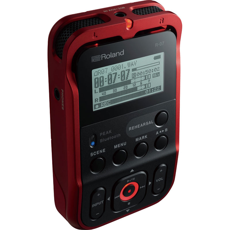 簡単、確実、高音質、ワイヤレス・リモコンに対応したオーディオ・レコーダー Roland R-07(RD)【RED】【p5】