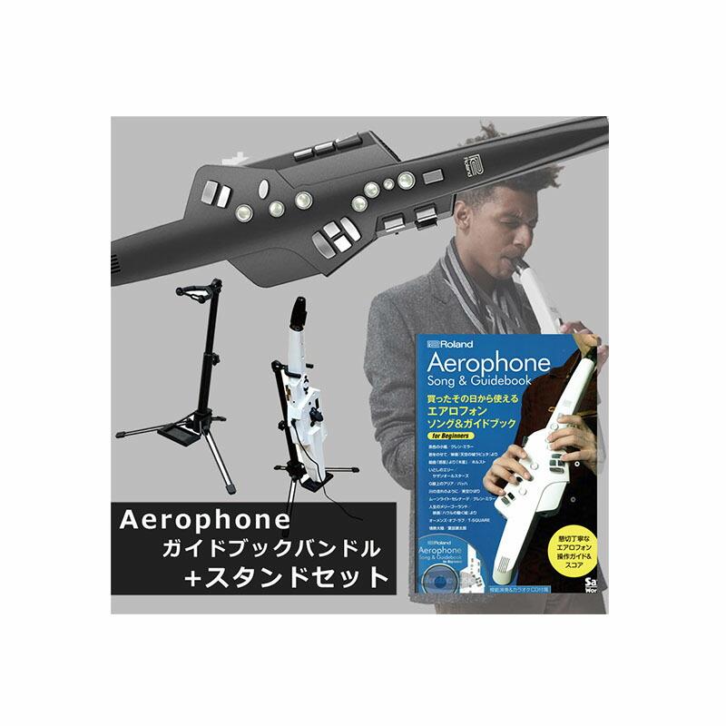 Roland Aerophone AE-10G グラファイト・ブラック【台数限定!スタンド+エアロフォン ソング&ガイドブックセット】【p10】【あす楽対応】