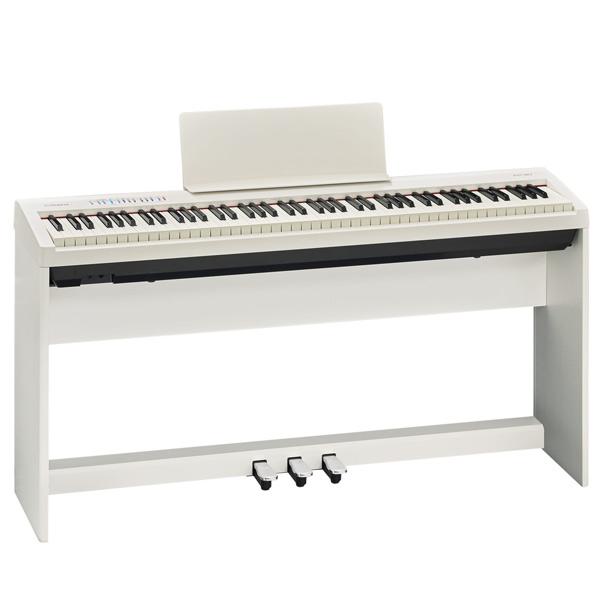 Roland FP-30-WH ピアノ+スタンド+3本ペダルセット【配送センター出荷・土日、祝日は発送休業】【p10】