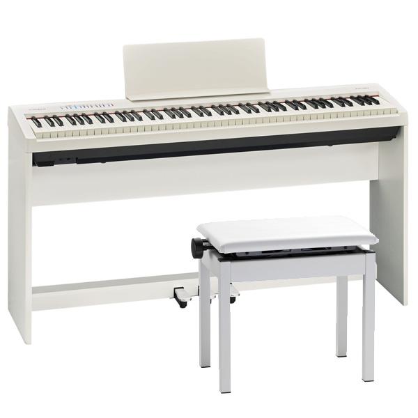 Roland FP-30-WH ピアノ+スタンド+3本ペダル+純正高低自在イスセット【配送センター出荷・土日、祝日は発送休業】【p10】
