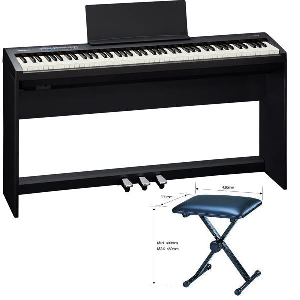 Roland FP-30-BK ・ピアノ+スタンド+3本ペダル+ベンチイスセット【配送センター出荷・土日、祝日は発送休業】【p10】