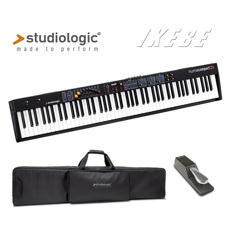 Studiologic Numa Compact 2X専用ギグバッグ+汎用サスティンペダルセット【p5】