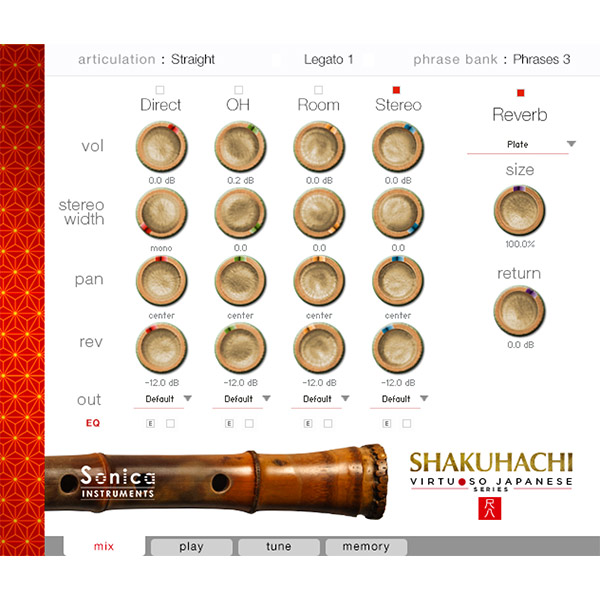 Sonica Instruments SHAKUHACHI (Virtuoso Japanese Series Vol.3)