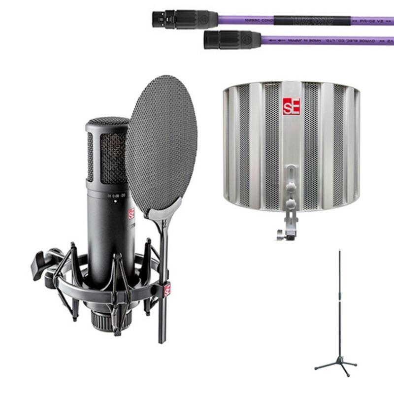 "SE Electronics sE2200+ケーブル、マイクスタンド+Relexion Filter ""SPACE""セット"