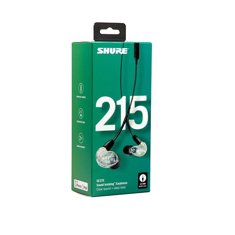SHURE SE215-CL-UNI(クリア)(SE215-CL-UNI-A)【国内正規品・2年間保証】
