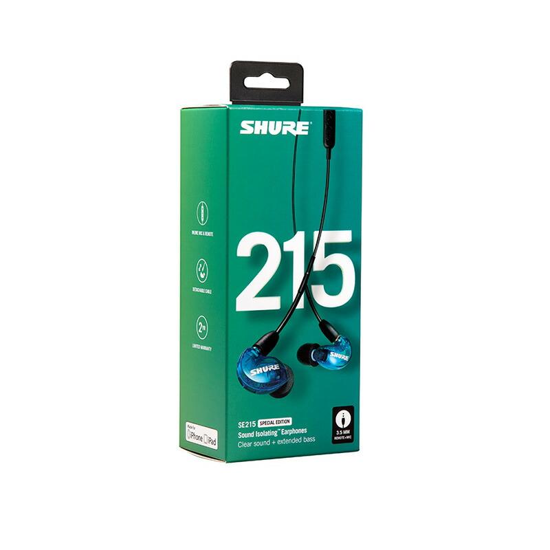 SHURE SE215SPE-B-UNI-A (トランス・ルーセント・ブルー)【国内正規品・2年間保証】