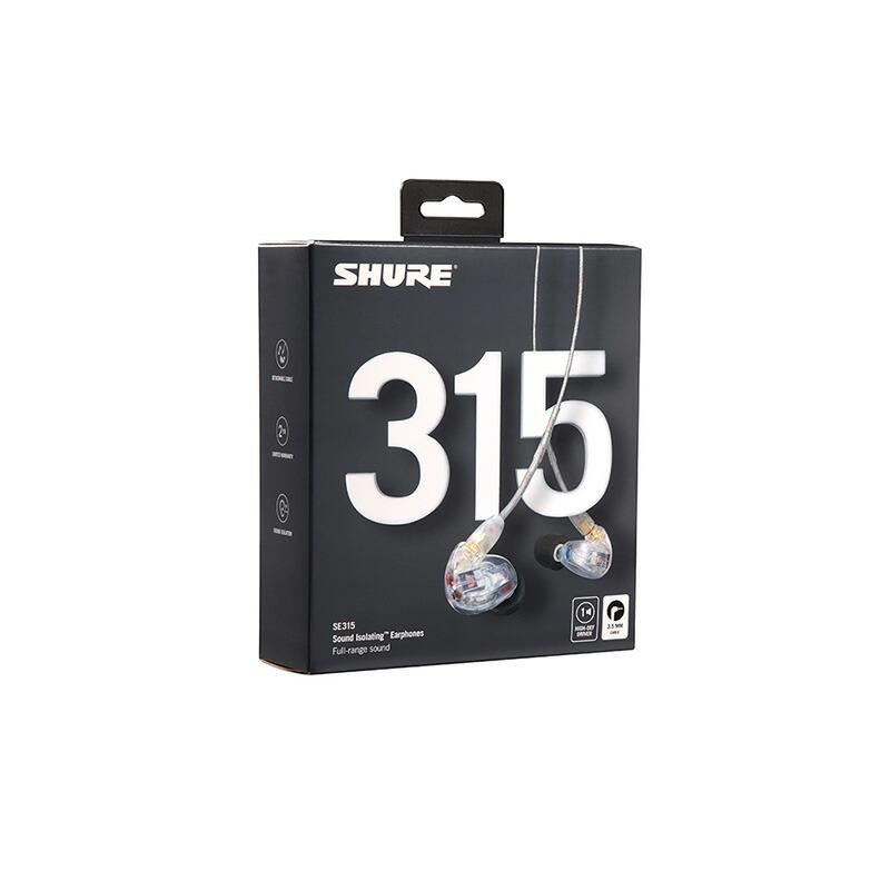 SHURE SE315-CL-A (クリアー)【新パッケージ】【国内正規品・2年間保証】