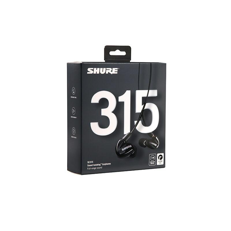 SHURE SE315-K-A (ブラック)【新パッケージ】【国内正規品・2年間保証】