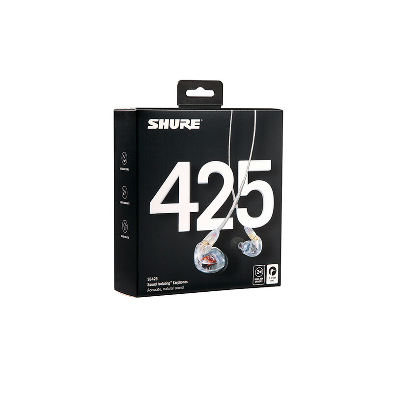 SHURE SE425-CL-A (クリアー)【新パッケージ】【国内正規品・2年間保証】