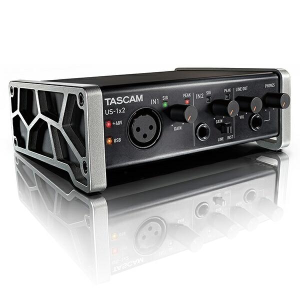 厳選された入出力と、高品位なオーディオ回路 TASCAM US-1x2-CU