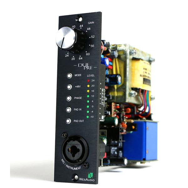 Wes Audio DUE-PRE (API500モジュール、ブリティッシュ/アメリカン 2モードマイクプリ)(VPR Alliance)