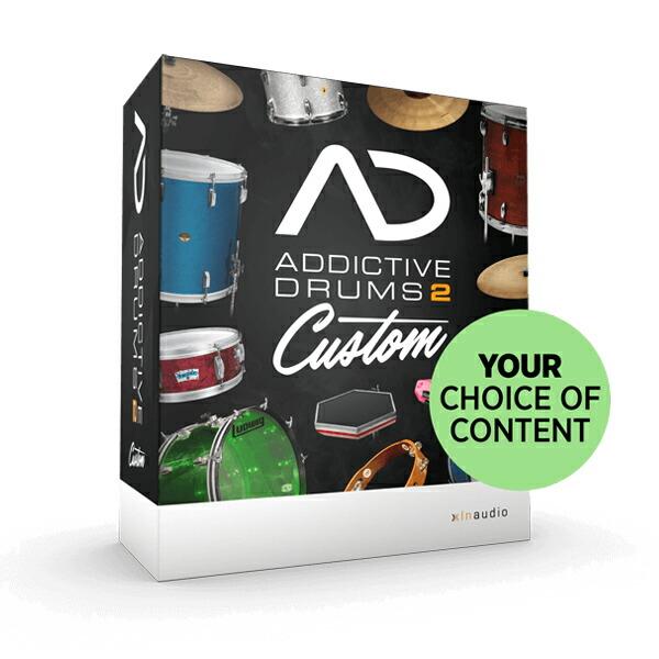 ADpak MIDIpak Kitpiece Pak を 3つずつ選択可能 XLN Audio 2 ※代金引換 オンライン納品専用 送料無料 新品 正規激安 Custom Drums 後払いはご利用頂けません Addictive 数量限定プロモ特価