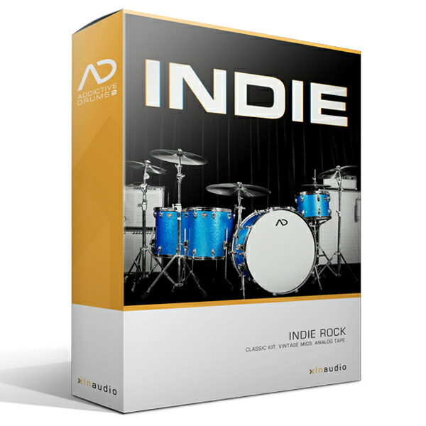 XLN AudioAddictive Drums2 Indie ADPak【Addictive Drums 2専用拡張音源】【簡易パッケージ販売】