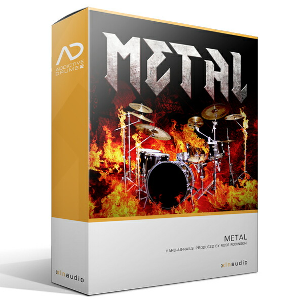 XLN AudioAddictive Drums2 Metal ADPak【Addictive Drums 2専用拡張音源】【簡易パッケージ販売】
