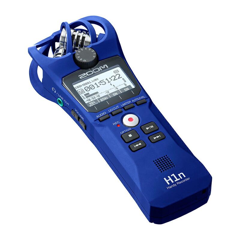 ZOOM H1n/L(ブルー)(Handy Recorder)【数量限定カラー】