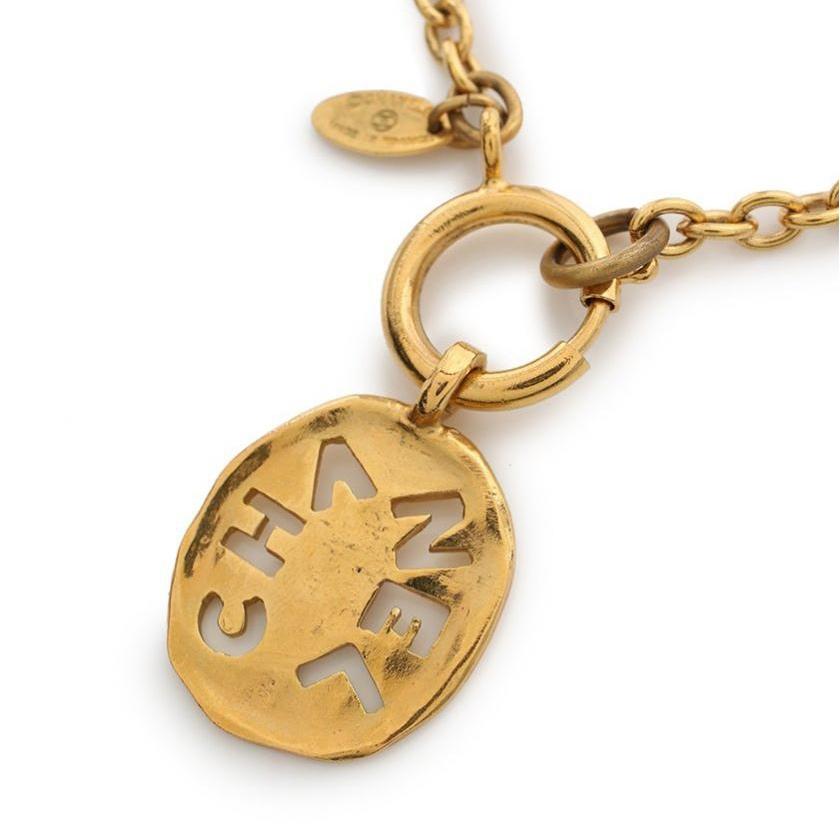 【10%OFFクーポン対象商品】シャネル CHANEL ロゴ ネックレス ゴールド ヴィンテージ 【レディース】【中古】【special】【送料無料】