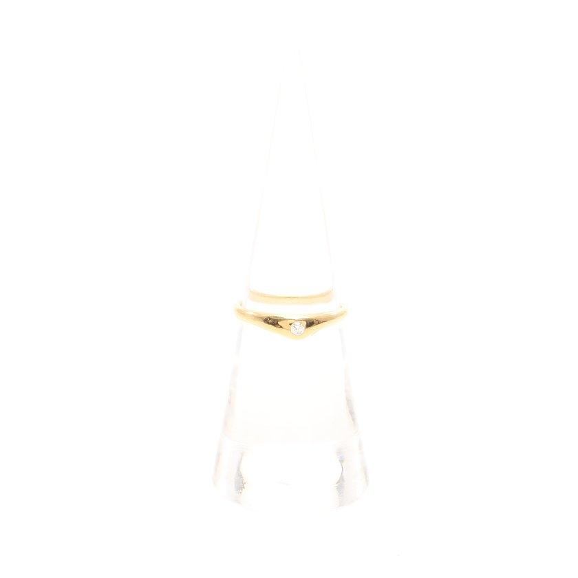 ティファニー TIFFANY & Co. リング 指輪 K18YG ダイヤモンド イエローゴールド 1Pダイヤ 【レディース】【中古】【送料無料】