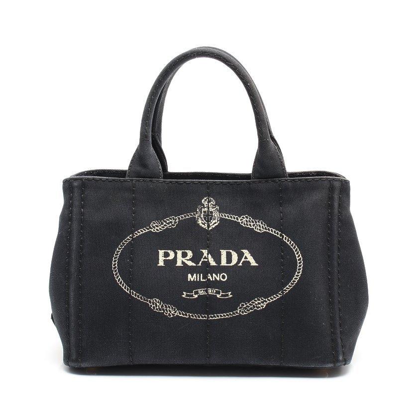 プラダ PRADA CANAPA カナパ トートバッグ キャンバス 黒 2WAY 1BG439 【レディース】【中古】【送料無料】