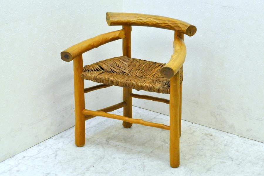 送料無料■北山杉 椅子 肘掛付■ハンドメイド■木製チェア