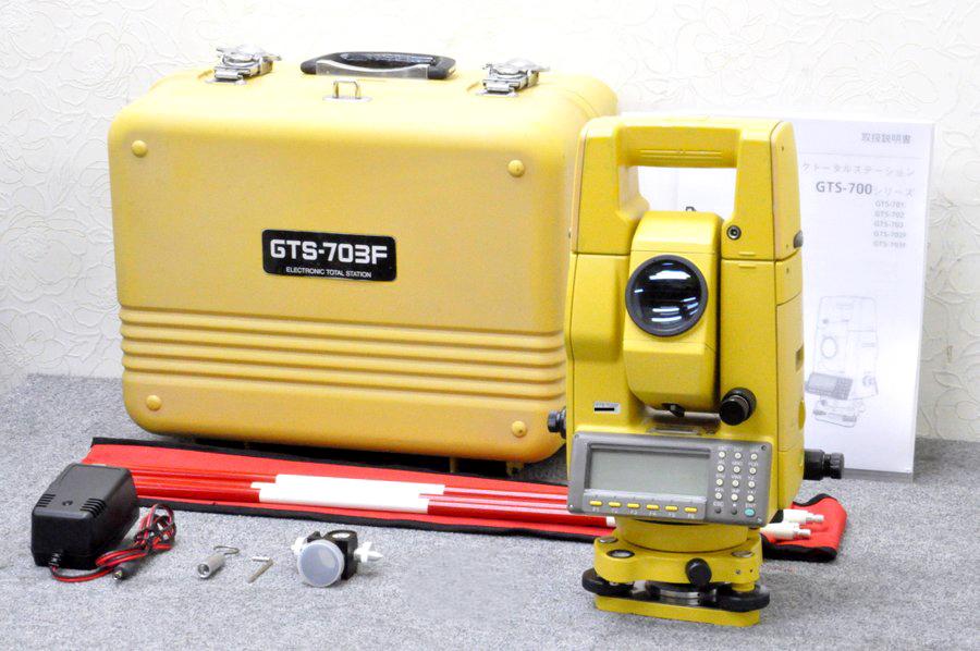 【校正証明書付】TOPCON/トプコン トータルステーション GTS-703F ■測量基本 プログラムカード付■GTS-700シリーズは、ほぼ同じ 唯一の違いは測距範囲です。■GTS-701 GTS-702 GTS-703 GTS-702F GTS-703F■測量機器【中古】トータルステーション・測量機器も多数ご用意!
