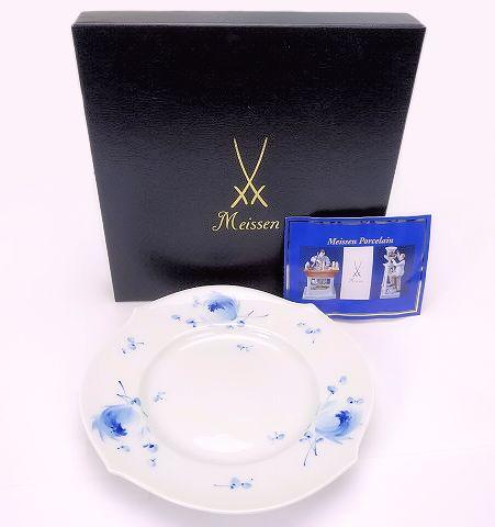 【未使用品】【送料無料】Meissen/マイセン 青い花 プレート 19cm【中古】