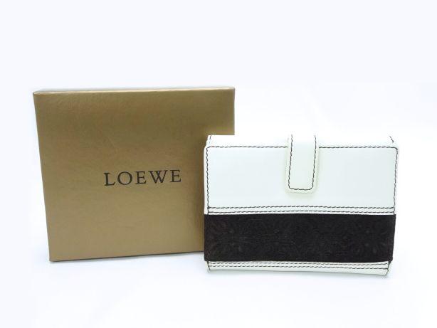 【送料無料】LOEWE/ロエベ レザー Wホック財布【中古】