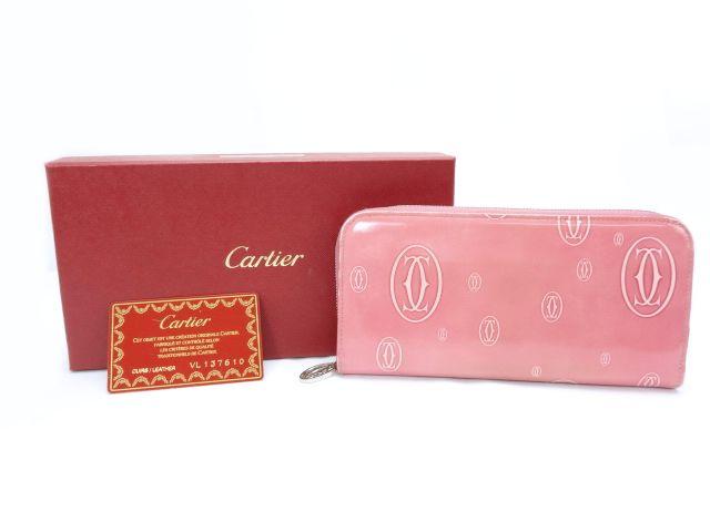 【送料無料】Cartier/カルティエ ハッピーバースデー ラウンドファスナー長財布【中古】