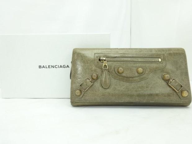 【送料無料】BALENCIAGA/バレンシアガ コンチネンタルウォレット 2つ折り長財布【中古】