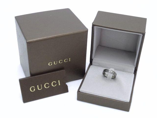 【送料無料】GUCCI/グッチ K18 ブラックダイヤモンド アイコン スターダストリング(9号)【中古】