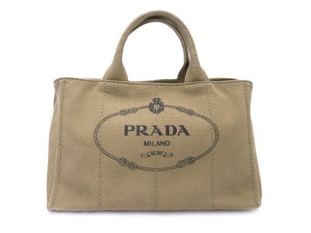 【送料無料】PRADA/プラダ カナパ キャンバストートバッグ【中古】
