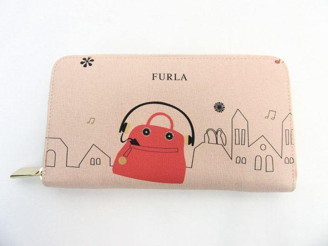 【送料無料】FURLA/フルラ  ポップペイントラウンドファスナー長財布 【中古】