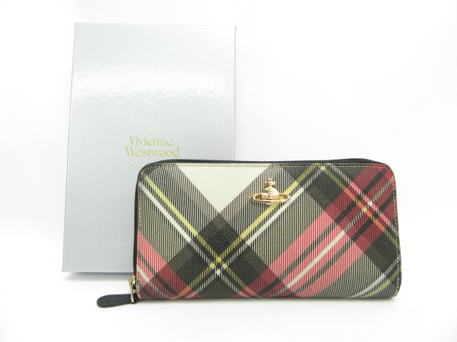 【送料無料】Vivienne Westwood/ヴィヴィアンウエストウッド  ラウンドファスナー長財布 【中古】