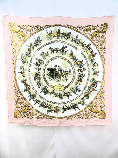 【送料無料】HERMES/エルメス ロンシャンへの散歩 シルク100%スカーフ 【中古】