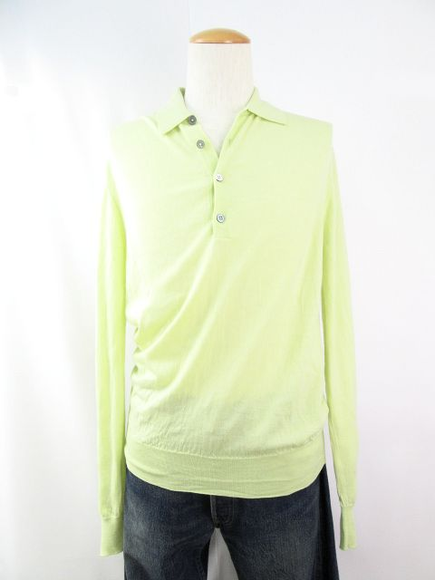 送料無料 HERMES/エルメス ウール100%長袖シャツ(Mサイズ) 中古