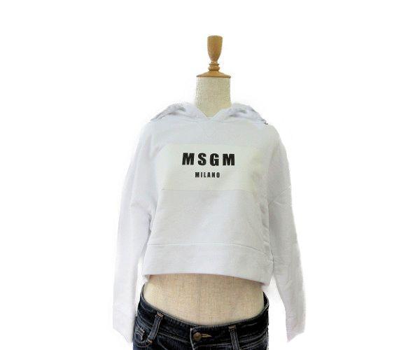 送料無料 MSGM/エムエスジーエム フード付 コットンパーカー (XS) 中古