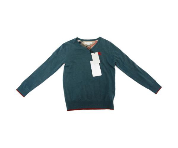 未使用品 BURBERRY CHILDREN/バーバリー チルドレン 長袖 Vネック セーター (6Y/116cm) 中古