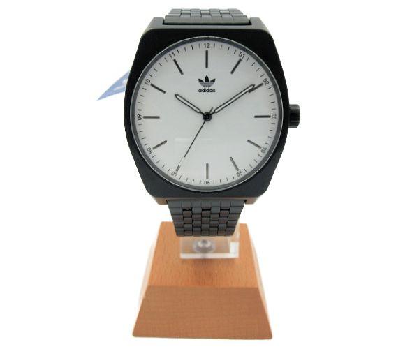 送料無料 adidas/アディダス CJ6344 PROCESS M1 クォーツ 腕時計 BLACK/WHITE