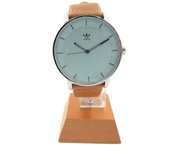送料無料 adidas/アディダス CJ6332 DISTRICT L1 クォーツ腕時計 SILVER/ASH GREEN/TAN