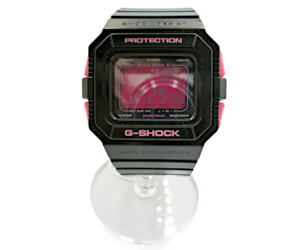 ジーショック ベーシック 20気圧 タフソーラー 耐衝撃構造 ブラック ピンク メンズ CASIO デジタル 即納 腕時計 送料無料 GW-5510B カシオ 売れ筋 BASIC G-SHOCK 中古