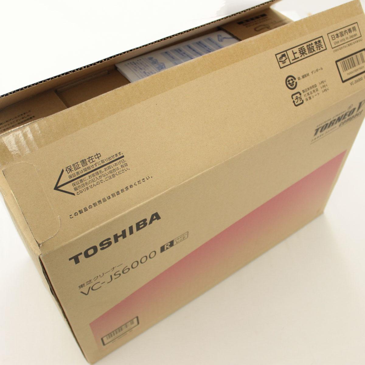 【中古】未使用品☆TOSHIBA 東芝 サイクロン クリーナー 掃除機 VC-JS6000 red /赤/レッド 2018年製 ☆ 25994-KY0419