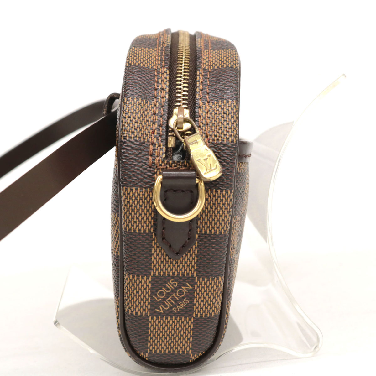 LOUIS VUITTON ルイヴィトン ダミエ イパネマ ウェストポーチbrown茶 ブラウン ポシェット エベヌbf7Yvy6g