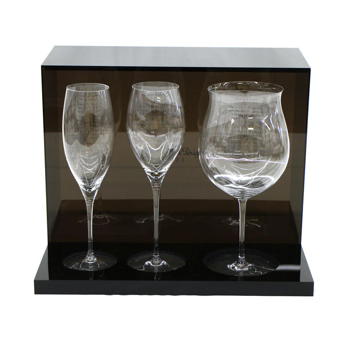【中古】◆美品RIEDEL リーデル グラス ソムリエ Dom P?rignon ドンペリ 2003年 3客セット シャンパン ワイングラス