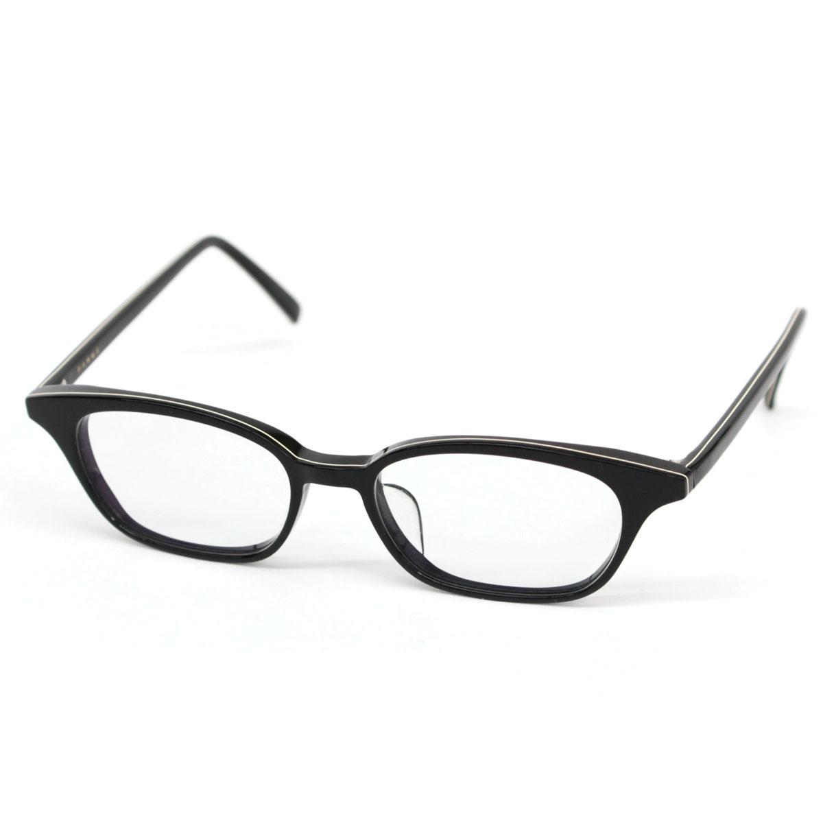 【中古】良好◆白山眼鏡店 眼鏡フレーム レンズ度無し◆ black /黒/ブラック/アイウェア/メガネ/伊達/メンズ/レディース/スクエア